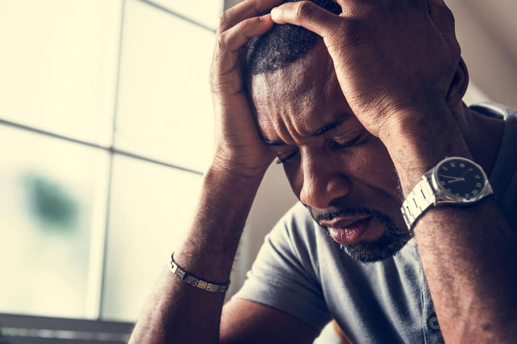 gestresster Mann